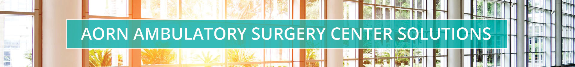 AORN Ambulatory Surgery Center Solutions