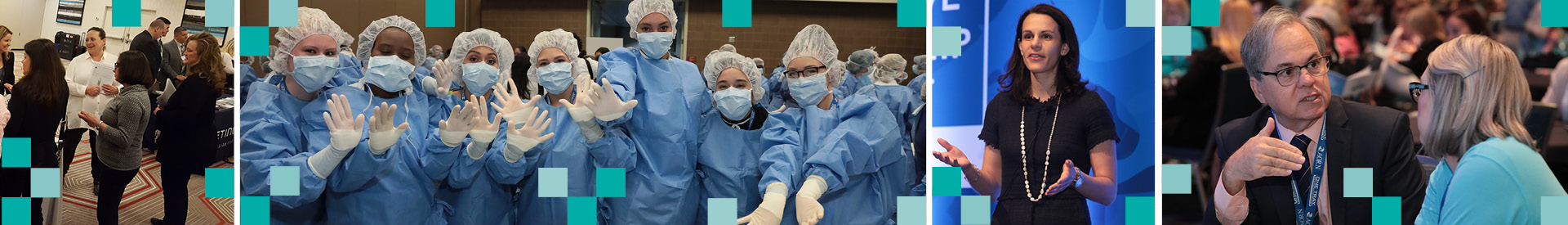 Montage of images from AORN Live events